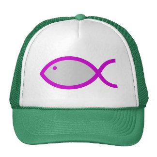 ¡Símbolo cristiano de los pescados - RUIDOSAMENTE! Gorros Bordados