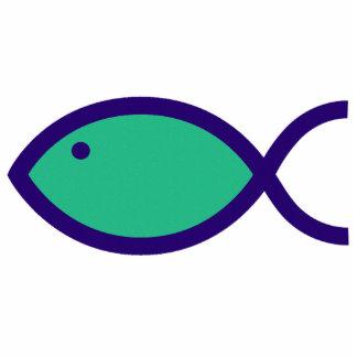¡Símbolo cristiano de los pescados - RUIDOSAMENTE! Imán Fotoescultura