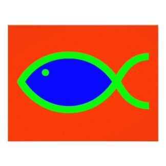 ¡Símbolo cristiano de los pescados - RUIDOSAMENTE Invitación Personalizada