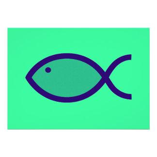 ¡Símbolo cristiano de los pescados - RUIDOSAMENTE Invitacion Personalizada