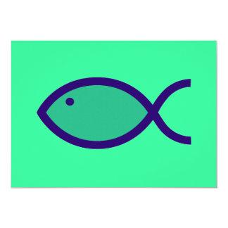 """¡Símbolo cristiano de los pescados - RUIDOSAMENTE! Invitación 5"""" X 7"""""""