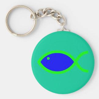 ¡Símbolo cristiano de los pescados - RUIDOSAMENTE! Llavero