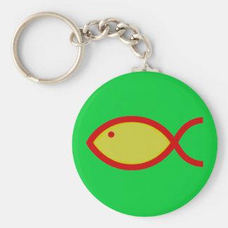 ¡Símbolo cristiano de los pescados - RUIDOSAMENTE! Llaveros