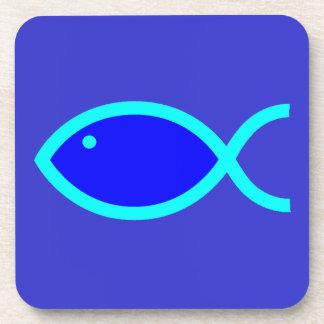 ¡Símbolo cristiano de los pescados - RUIDOSAMENTE! Posavasos De Bebidas