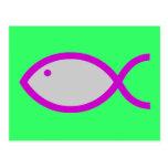 ¡Símbolo cristiano de los pescados - RUIDOSAMENTE! Tarjetas Postales