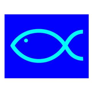 ¡Símbolo cristiano de los pescados - RUIDOSAMENTE! Postal