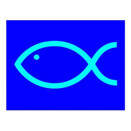 ¡Símbolo cristiano de los pescados - RUIDOSAMENTE! Tarjeta Postal