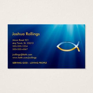 Símbolo cristiano el | de los pescados inspirado tarjetas de visita