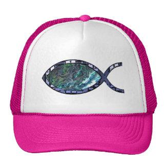 Símbolo cristiano radiante de los pescados gorra