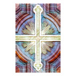 Símbolo cruzado cristiano religioso papelería personalizada