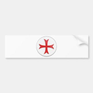 Símbolo cruzado de Templar del caballero Etiqueta De Parachoque