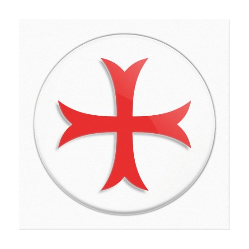 Símbolo cruzado de Templar del caballero Lienzo Envuelto Para Galerías