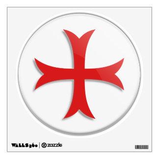 Símbolo cruzado de Templar del caballero Vinilo