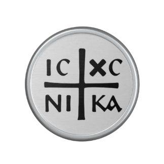 símbolo cruzado ortodoxo del este de la iglesia de altavoz