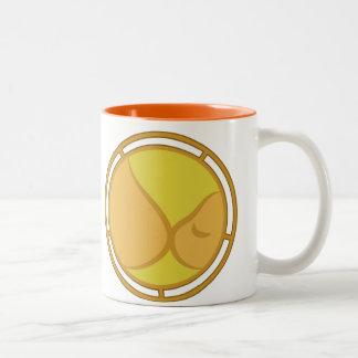 Símbolo de amamantamiento taza de dos tonos