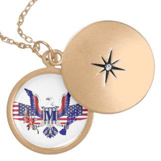 Símbolo de American Eagle Collar Con Colgante