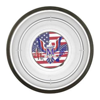 Símbolo de American Eagle Cuenco Acrílico