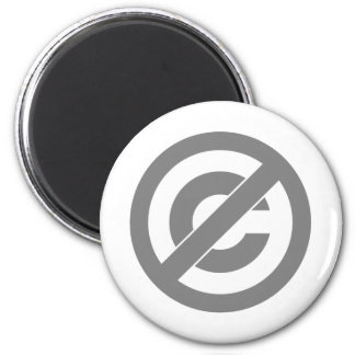 Símbolo de Anti-Copyright del public domain Imán Redondo 5 Cm