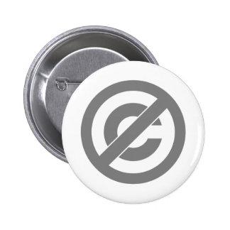 Símbolo de Anti-Copyright del public domain Pins