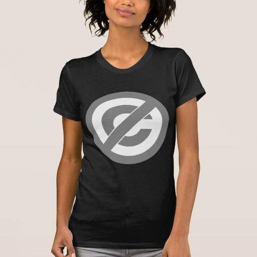 Símbolo de Anti-Copyright del public domain Camiseta