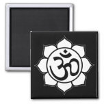 Símbolo de Aum de la flor de Lotus Imanes