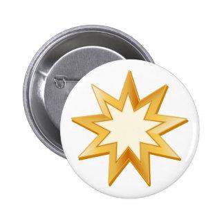 Símbolo de Baha'i Pin Redondo De 2 Pulgadas