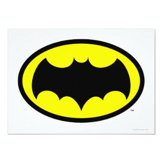 """Símbolo de Batman Invitación 5"""" X 7"""""""