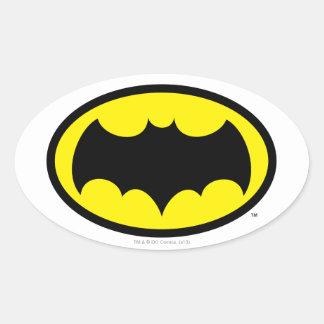 Símbolo de Batman Pegatina Ovalada