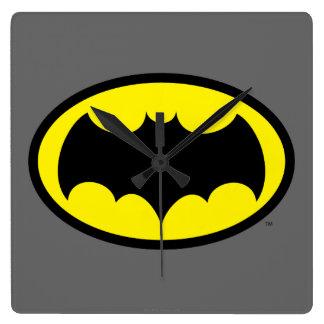 Símbolo de Batman Reloj Cuadrado