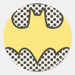 Símbolo de Batman Showtime Etiquetas Redondas