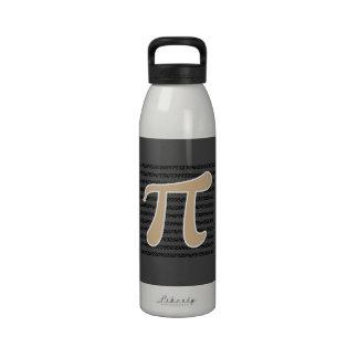 Símbolo de Brown pi del moreno Botella De Agua