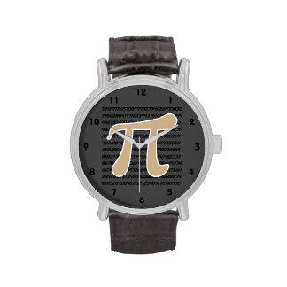 Símbolo de Brown pi del moreno Relojes