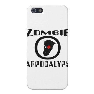 Símbolo de Carpocalypse del zombi iPhone 5 Carcasas
