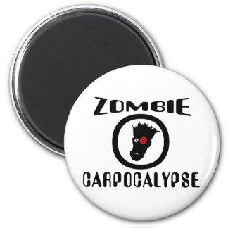 Símbolo de Carpocalypse del zombi Imán Redondo 5 Cm