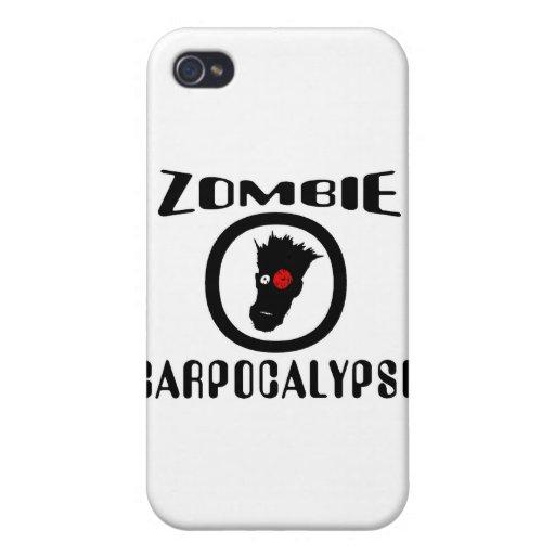 Símbolo de Carpocalypse del zombi iPhone 4 Fundas