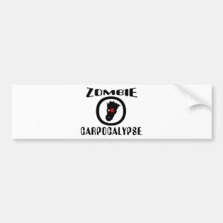 Símbolo de Carpocalypse del zombi Pegatina Para Auto