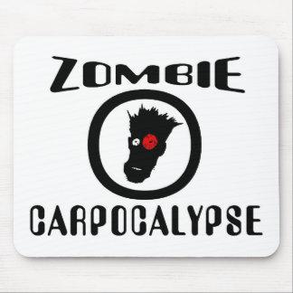 Símbolo de Carpocalypse del zombi Tapetes De Raton