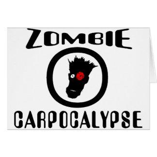 Símbolo de Carpocalypse del zombi Tarjeta De Felicitación