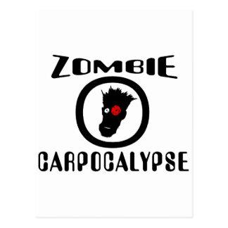 Símbolo de Carpocalypse del zombi Tarjetas Postales
