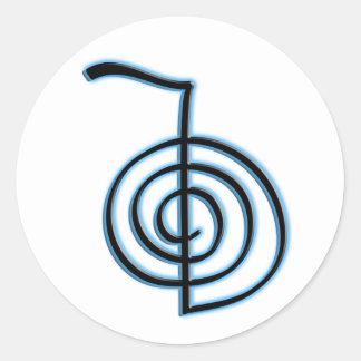 Símbolo de Cho Ku Rei Reiki Pegatina Redonda