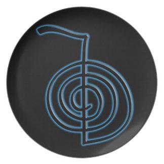Símbolo de Cho Ku Rei Reiki Platos