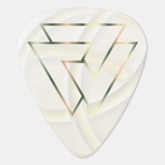 Símbolo de cobre deslustrado de Valknut de los Plumilla De Guitarra