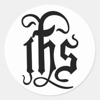 Símbolo de Cristo Pegatina Redonda