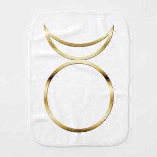 Símbolo de cuernos pagano de dios de Falln Paños Para Bebé