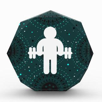 Símbolo de Dumbells del gimnasta