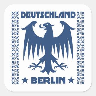 Símbolo de Eagle del alemán de Deutschland Berlín Pegatina Cuadrada