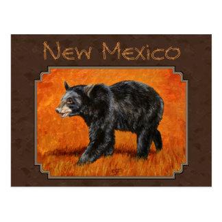 Símbolo de estado del oso negro de New México Tarjeta Postal
