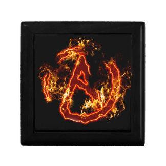 Símbolo de fuego ateo cajas de regalo