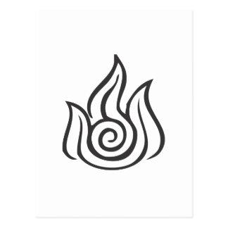 Símbolo de fuego postal