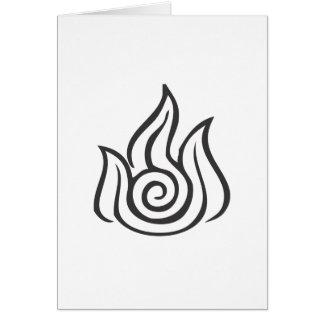 Símbolo de fuego tarjeta de felicitación